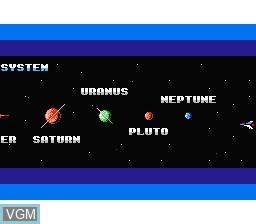 Image du menu du jeu Gyruss sur Nintendo Famicom Disk