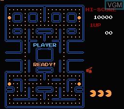 Image du menu du jeu Pac-Man sur Nintendo Famicom Disk