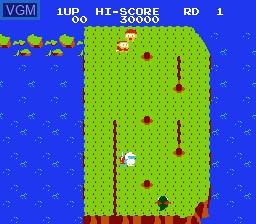 Image in-game du jeu Dig Dug II sur Nintendo Famicom Disk