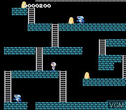 Image in-game du jeu Super Lode Runner sur Nintendo Famicom Disk