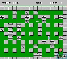 Image in-game du jeu Bomberman sur Nintendo Famicom Disk