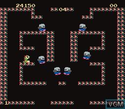Image in-game du jeu Bubble Bobble sur Nintendo Famicom Disk