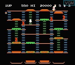 Image in-game du jeu Burger Time sur Nintendo Famicom Disk