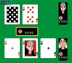 Image in-game du jeu Date de Blackjack sur Nintendo Famicom Disk