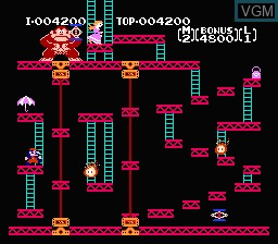 Image in-game du jeu Donkey Kong sur Nintendo Famicom Disk