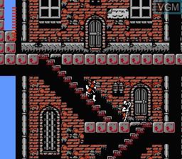 Image in-game du jeu Dracula II - Noroi no Fuuin sur Nintendo Famicom Disk