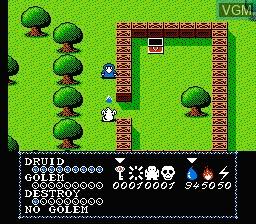 Image in-game du jeu Druid - Kyoufu no Tobira sur Nintendo Famicom Disk