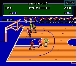 Image in-game du jeu Exciting Basket sur Nintendo Famicom Disk