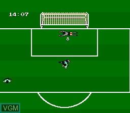 Image in-game du jeu Exciting Soccer - Konami Cup sur Nintendo Famicom Disk