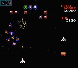Image in-game du jeu Galaga sur Nintendo Famicom Disk