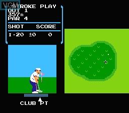 Image in-game du jeu Golf sur Nintendo Famicom Disk
