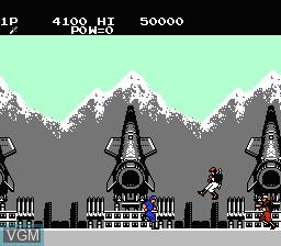 Image in-game du jeu Green Beret sur Nintendo Famicom Disk