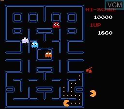 Image in-game du jeu Pac-Man sur Nintendo Famicom Disk