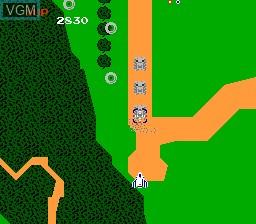 Image in-game du jeu Xevious sur Nintendo Famicom Disk
