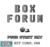 Image de l'ecran titre du jeu Box Forum sur Bit Corporation Gamate