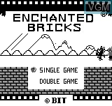 Image de l'ecran titre du jeu Enchanted Bricks sur Bit Corporation Gamate