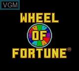 Image de l'ecran titre du jeu Wheel of Fortune sur Sega Game Gear