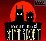 Image de l'ecran titre du jeu Adventures of Batman & Robin, The sur Sega Game Gear