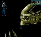Image de l'ecran titre du jeu Alien 3 sur Sega Game Gear