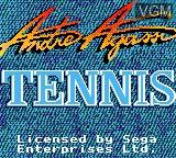 Image de l'ecran titre du jeu Andre Agassi Tennis sur Sega Game Gear
