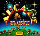 Image de l'ecran titre du jeu Arcade Classics sur Sega Game Gear
