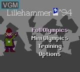 Image de l'ecran titre du jeu Winter Olympics - Lillehammer '94 sur Sega Game Gear