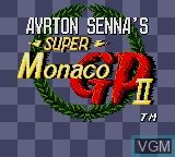 Image de l'ecran titre du jeu Ayrton Senna's Super Monaco GP II sur Sega Game Gear