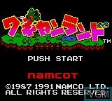 Image de l'ecran titre du jeu Wagyan Land sur Sega Game Gear
