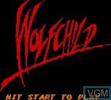 Image de l'ecran titre du jeu Wolfchild sur Sega Game Gear