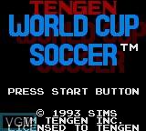 Image de l'ecran titre du jeu World Cup Soccer sur Sega Game Gear