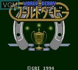 Image de l'ecran titre du jeu World Derby sur Sega Game Gear