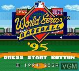 Image de l'ecran titre du jeu World Series Baseball '95 sur Sega Game Gear