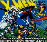 Image de l'ecran titre du jeu X-Men sur Sega Game Gear