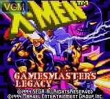 Image de l'ecran titre du jeu X-Men - Gamemaster's Legacy sur Sega Game Gear