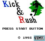 Image de l'ecran titre du jeu Kick & Rush sur Sega Game Gear