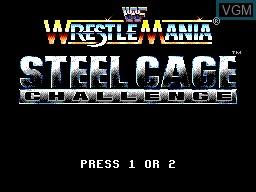 Image de l'ecran titre du jeu WWF Steel Cage Challenge sur Sega Game Gear