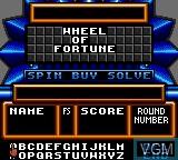 Image du menu du jeu Wheel of Fortune sur Sega Game Gear