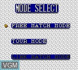 Image du menu du jeu Wimbledon sur Sega Game Gear