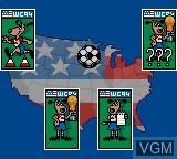 Image du menu du jeu World Cup 94 sur Sega Game Gear