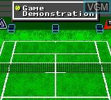 Image du menu du jeu Andre Agassi Tennis sur Sega Game Gear