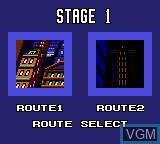 Image du menu du jeu Batman Returns sur Sega Game Gear