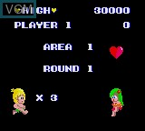 Image du menu du jeu Wonder Boy sur Sega Game Gear