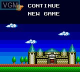 Image du menu du jeu Wonder Boy - The Dragon's Trap sur Sega Game Gear