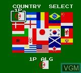 Image du menu du jeu World Cup Soccer sur Sega Game Gear