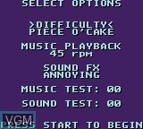 Image du menu du jeu X-Men sur Sega Game Gear