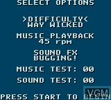 Image du menu du jeu X-Men - Gamemaster's Legacy sur Sega Game Gear