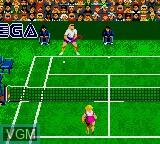 Image in-game du jeu Andre Agassi Tennis sur Sega Game Gear