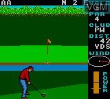 Image in-game du jeu World Class Leader Golf sur Sega Game Gear