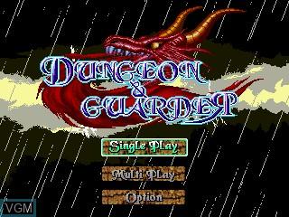 Image de l'ecran titre du jeu Dungeon and Guarder sur GamePark Holdings Game Park 32