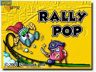 Image de l'ecran titre du jeu Rally Pop sur GamePark Holdings Game Park 32